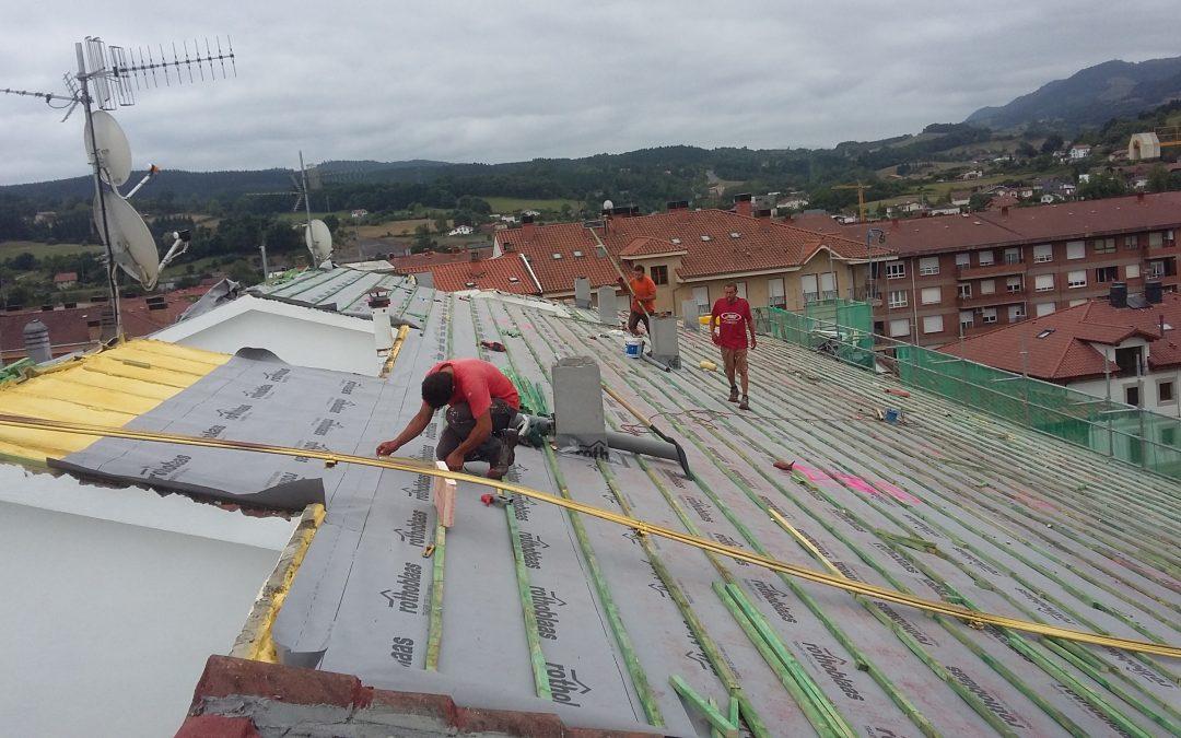 Aislamiento exterior tejado